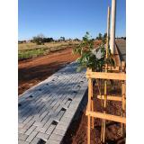 bloco de concreto intertravado orçamento Araraquara