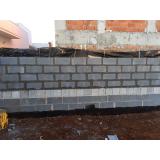 bloco de concreto para vedação