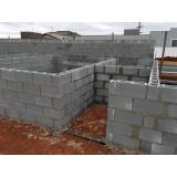 bloco de concreto vedação