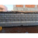 bloco de vedação de concreto
