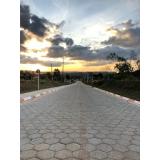 bloquetes sextavado de concreto Riviera de São Lourenço